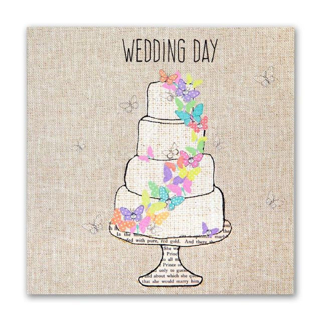 Wedding Cake & Butterflies Wedding Card - product images