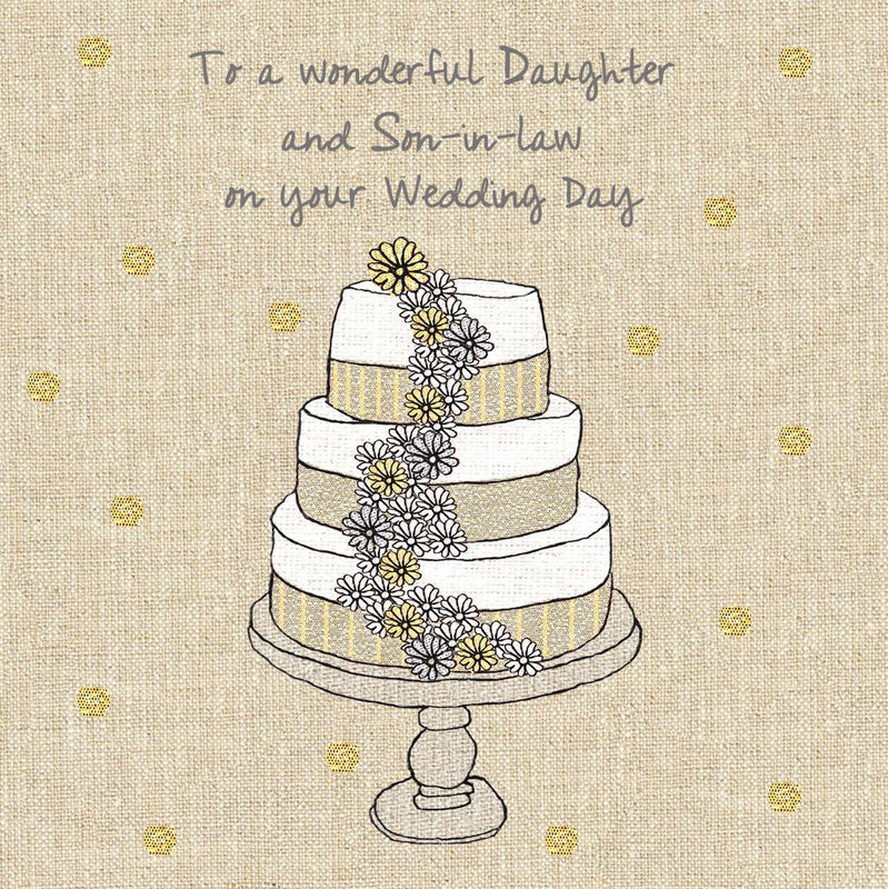 Daughter & Son-In-Law Wedding Cake Wedding Card - product images