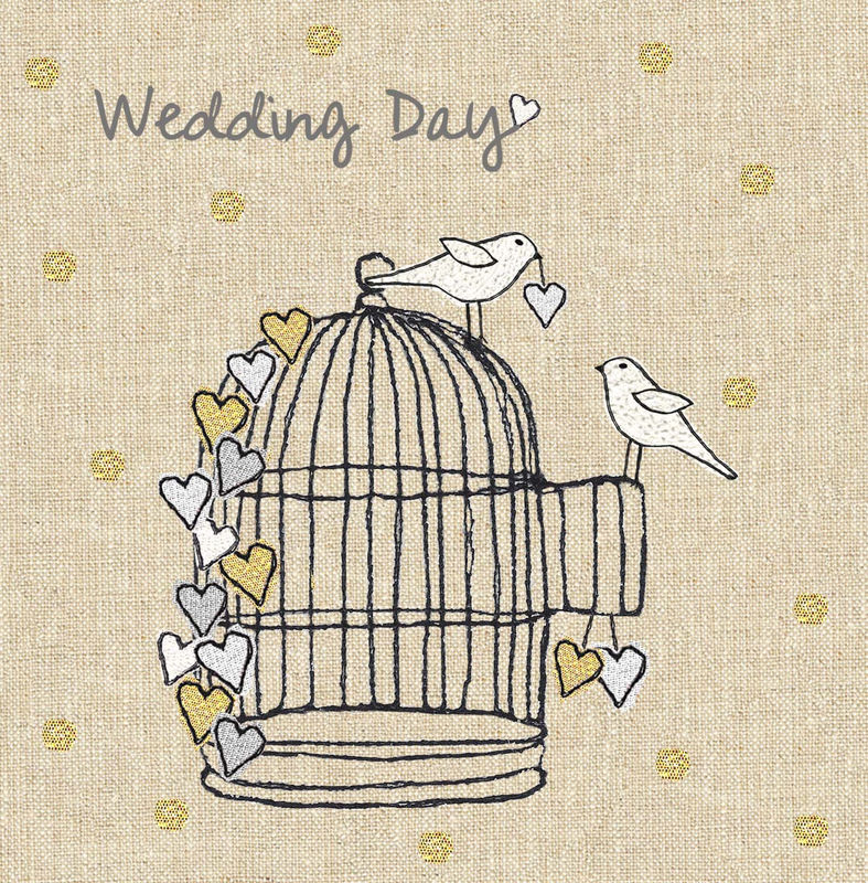 Doves & Birdcage Wedding Day Card - product images