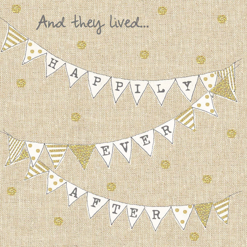 Hand Finished Happily Ever After Wedding Card - product images