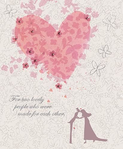 For Two Lovely People Wedding Day Card  - product images  of