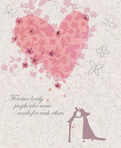 For,Two,Lovely,People,Wedding,Day,Card,buy wedding day cards online, buy heart wedding cards online, buy happily ever after wedding card, buy cards for weddings online, special couple wedding day card, mr and mrs card, special friends wedding card