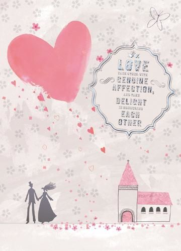 Church & Hearts Wedding Card  - product images  of