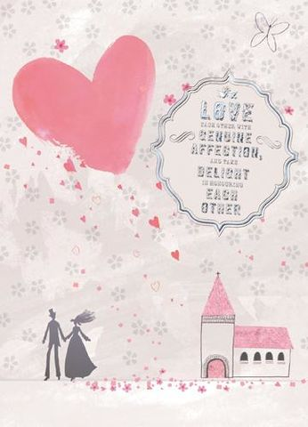 Church,&,Hearts,Wedding,Card,buy wedding day cards online, buy heart wedding cards online, buy church wedding card, buy cards for weddings online, special couple wedding day card, mr and mrs card, bride and groom wedding card, happy couple wedding card, wedding cards with churches