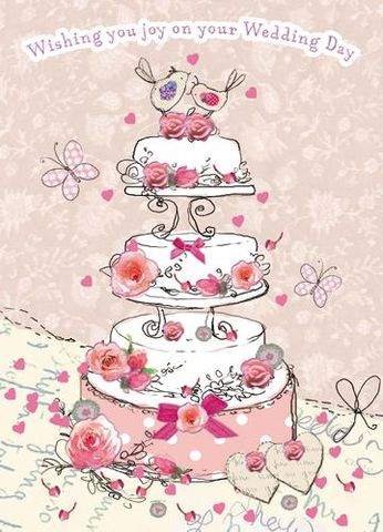 Wishing,you,Joy,On,Your,Wedding,Day,Card,buy wedding day cards online, buy heart wedding cards online, buy wedding cake wedding cards online, wedding cards with birds, wedding cards with butterflies, pink wedding cards, romantic wedding cards, bride and groom, mr and mrs wedding card, happy coup