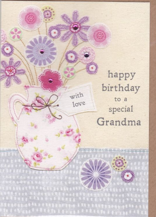 Special Grandma Flowers Birthday Card - product images