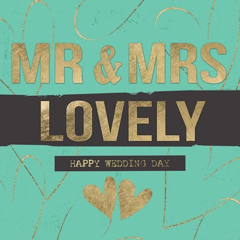 Mr,and,Mrs,Lovely,Wedding,Card,buy wedding day card online, buy cards for weddings online, wedding card, mr and mrs wedding card, mr and mrs lovely wedding day card, lovely mr and mrs card, happy wedding day, heart wedding card, hearts, gold, green, black, swirls, typography