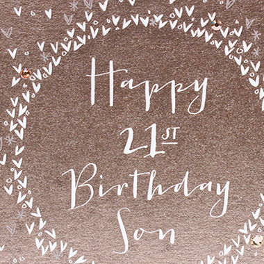 Luxury Son 21st Birthday Card - product images  of