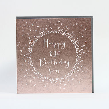 Luxury Son 21st Birthday Card