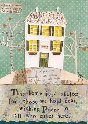 Home,Is,A,Shelter,Card,-,Curly,Girl,Design,buy dandelion blank greetings cards online, buy curly girl designs card online, curly girl cards UK, buy blank greetings cards online, card for warm wishes, warm wishes cards, dandelion cards