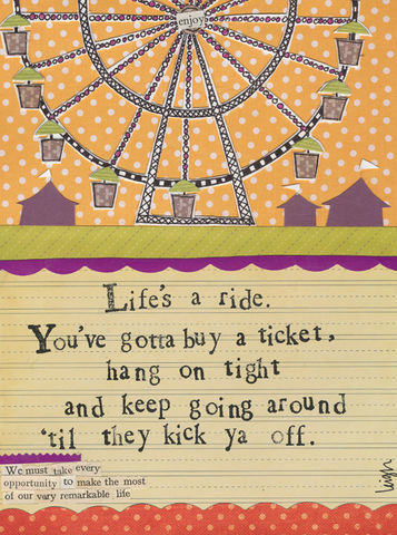 Life's,A,Ride,Card,-,Curly,Girl,Design,buy dandelion blank greetings cards online, buy curly girl designs card online, curly girl cards UK, buy blank greetings cards online, card for warm wishes, warm wishes cards, dandelion cards