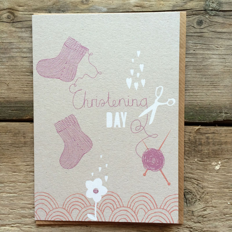 Baby Booties Christening Day Card - product images  of