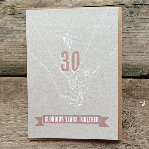 Pearl,Wedding,Anniversary,Card,-,30,Glorious,Years,Together,buy pearl wedding anniversary cards online, buy 30th wedding anniversary cards online, buy cards for wedding anniversaries, thirtieth wedding anniversary card, card for thirtieth anniversary,