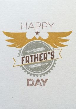 Happy,Father's,Day,Badge,Card,buy dad father's day cards online, buy fathers day cards online, father's day badge card, dad cards for fathers day, wonderful dad card, retro father's day card,