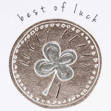 Lucky,Penny,Best,Of,Luck,Card,buy good luck cards online, buy penny good luck card online, buy good luck card, cards for good luck, good luck in exams card, good luck cards with lucky penny, best of luck card