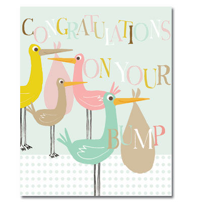 Congratulations On Your Bump - Mum To Be Card - product images