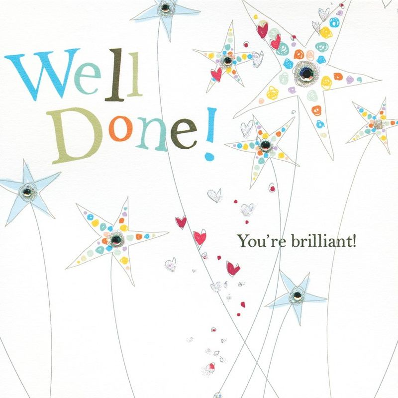 You're Brilliant Well Done Card - product images