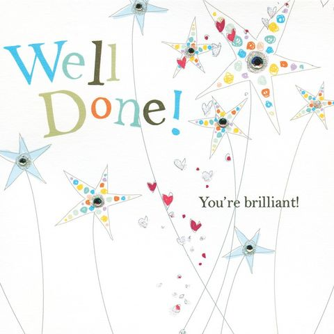 You're,Brilliant,Well,Done,Card,buy well done card online, buy congratulations card online, congrats card, congratulations well done card, you are brilliant card, well done with your exams card, exams card, graduation card, you are a star card,