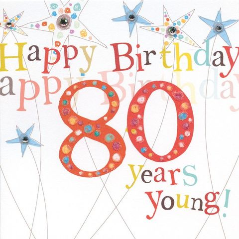 Birthday cards ages 16 100 collection karenza paperie handfinished80thbirthdaycardbuy 80th birthday card online m4hsunfo