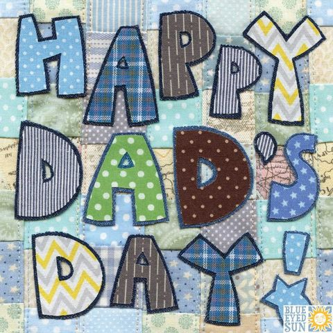 Patchwork,Happy,Dad's,Day,Card,,buy father's day card online online, buy dad's day cards online, buy cards for dads online, dad fathers day card, happy dad's day card, cards for daddies, retro father's day card,