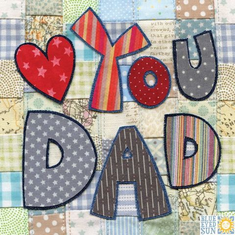 Patchwork,Heart,You,Dad,Card,buy father's day card online online, buy dad's day cards online, buy cards for dads online, buy love you dad cards online, love you dad cards, heart you dad cards, dad card I heart you,