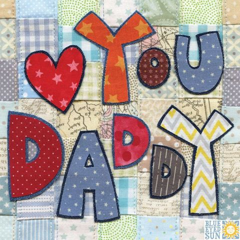 Patchwork,Heart,You,Daddy,Card,buy daddy father's day card online online, buy daddie's day cards online, buy cards for daddies online, buy love you daddy cards online, love you daddy cards, heart you daddy cards, dad card I heart you,
