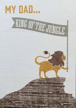 My,Dad,King,Of,The,Jungle,Father's,Day,Card,buy dad father's day cards online, buy fathers day cards online, my dad father's day card,king of the jungle fathers day card, lion fathers day card, card, dad cards for fathers day, dad cards with lions