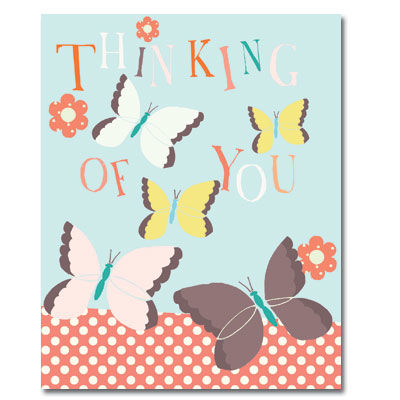 Butterflies,Thinking,Of,You,Card,buy thinking of you card online, buy cards for thinking of you online, butterflies thinking of you card, butterfly thinking of you cards, flowers thinking of you card, warm wishes card, love card, sympthy card
