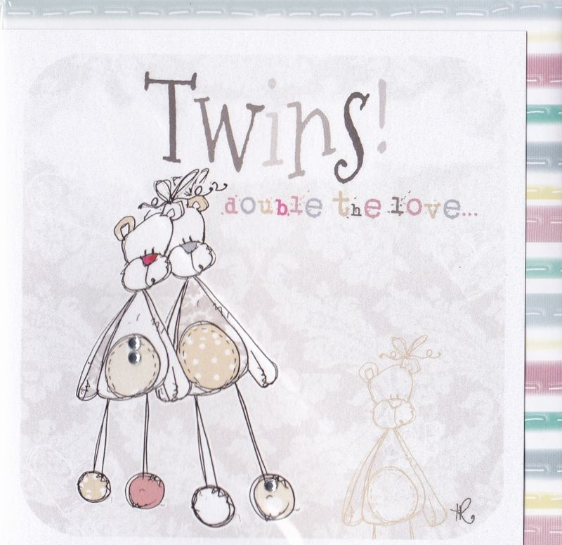 Twins Double The Love Card - New Baby Card - product images  of