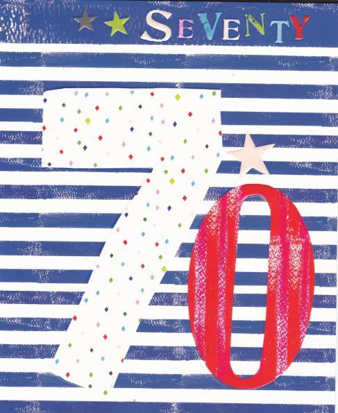 Stars & Stripes 70th Birthday Card - product images  of