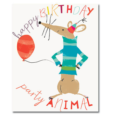 Happy,Birthday,Party,Animal,Card,buy birthday cards for him online, buy male birthday cards online, buy rat birthday cards online, buy party animal birthday cards online, birthday cards with rats, mens birthday card,