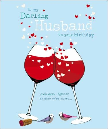 To,My,Darling,Husband,On,Your,Birthday,Card,buy husband birthday card online, buy birthday cards for husbands online, hubby birthday card, darling husband birthday card, red wine card for husband, first in my heart husband birthday card
