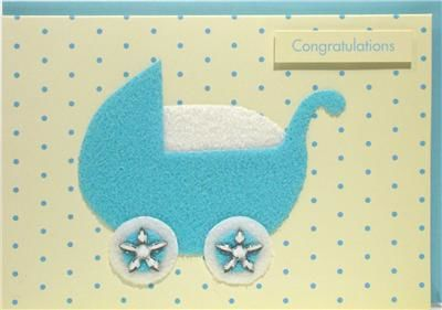 Blue,Pram,Congratulations,New,Baby,Card,buy new baby cards online, buy new baby boy cards online, cards for new baby, new baby card, card for new baby boy, pram new baby cards, blue pram new baby cards