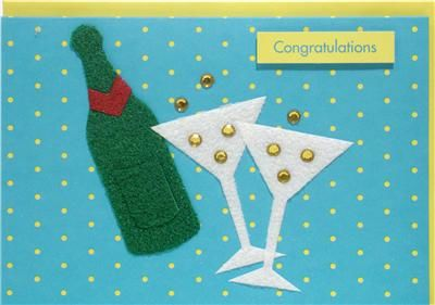 Bottle of Fizz Congratulations Card - product images