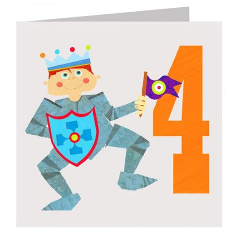 Knight,Boys,4th,Birthday,Card,buy 4th birthday card online, buy age 4 birthday card online, buy boys fourth birthday card online, boys knight birthday card, knight 4th birthday card,