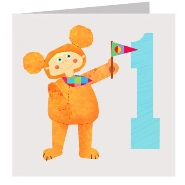 Bear Boys 1st Birthday Card - product images