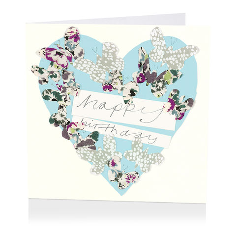 Butterflies,Heart,Birthday,Card,buy female birthday cards online, buy birthday cards for her online, butterflies birthday cards, buy birthday cards online with butterfliess, butterfly birthday cards, heart birthday card for her,