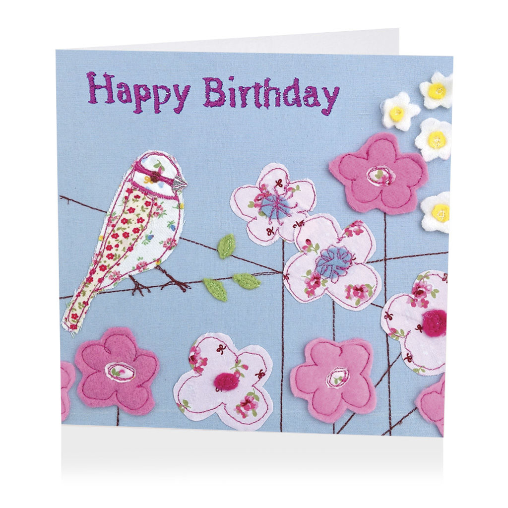 Bird and flowers birthday card karenza paperie bird and flowers birthday card izmirmasajfo