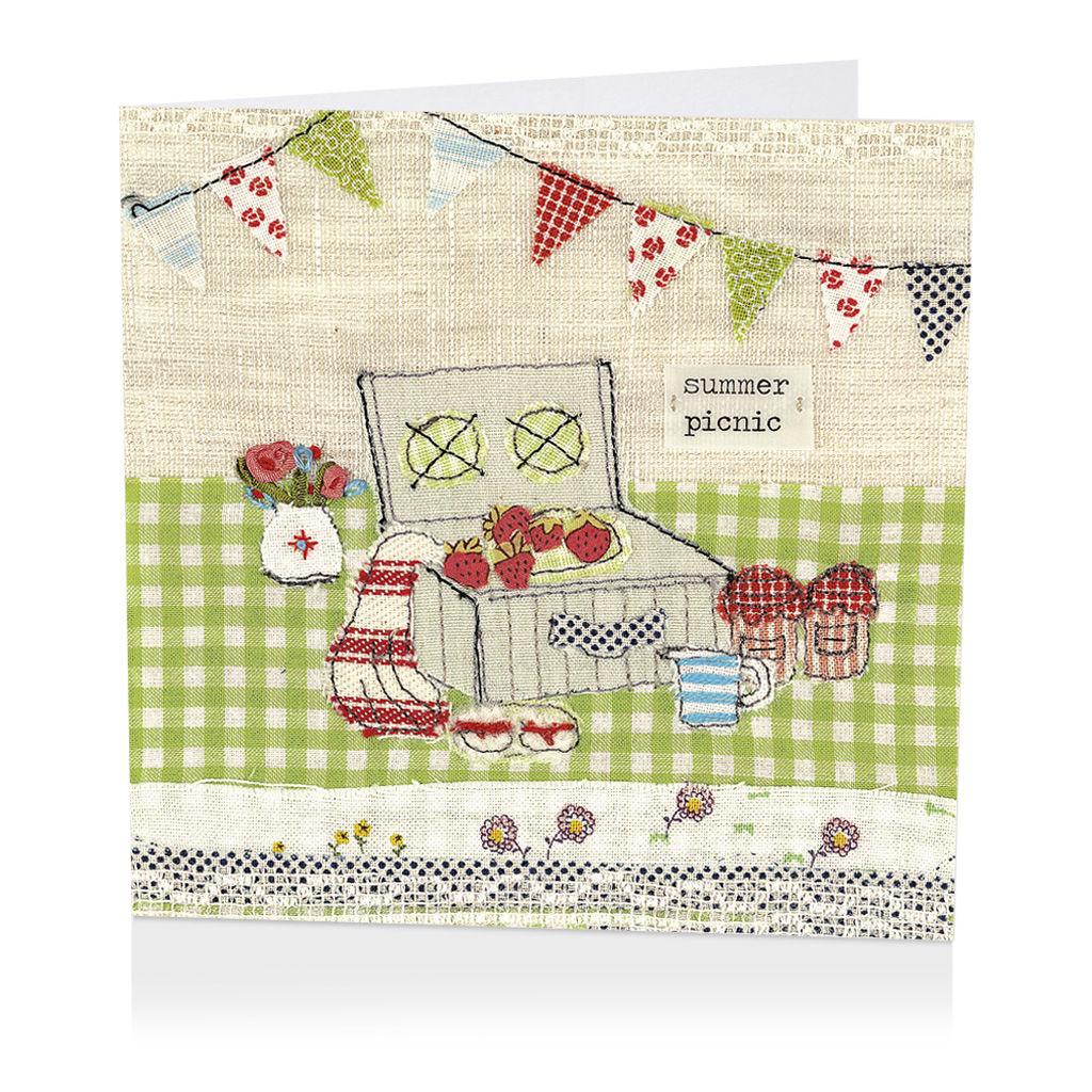 Summer Picnic Blank Greetings Card Karenza Paperie