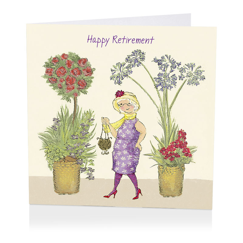 Floral Happy Retirement Card - product images