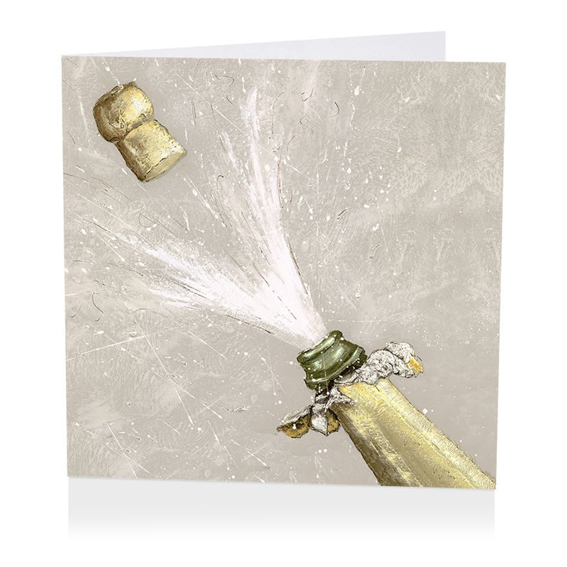 Champagne Celebration Blank Greetings Card - product images