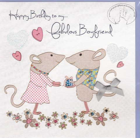 Handmade,Boyfriend,Birthday,Card,buy boyfriend birthday card online, buy birthday cards for boyfriends online, fabulous boyfriend birthday card, partner birthday card, to the one i love birthday card, mouse birthday card for boyfriend, mice birthday cards for boyfriends,