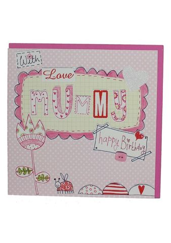 Flower,&,Ladybird,Mummy,Birthday,Card,buy pretty mummy birthday card online, buy mummy birthday card online from daughter son child children, buy birthday cards for mummies online, mummy birthday card, card for mummy, cards for mummies, mum card, card for mum