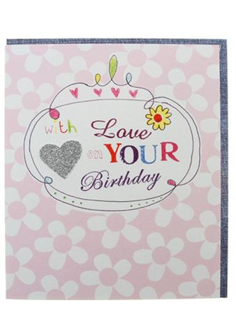 With,Love,On,Your,Birthday,Card,buy female birthday cards online, buy birthday cards for her online, butterflies birthday cards, buy birthday cards online with butterfliess, butterfly birthday cards, heart birthday card for her