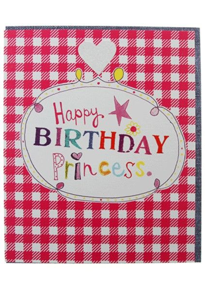 Happy Birthday Princess Birthday Card - product images  of