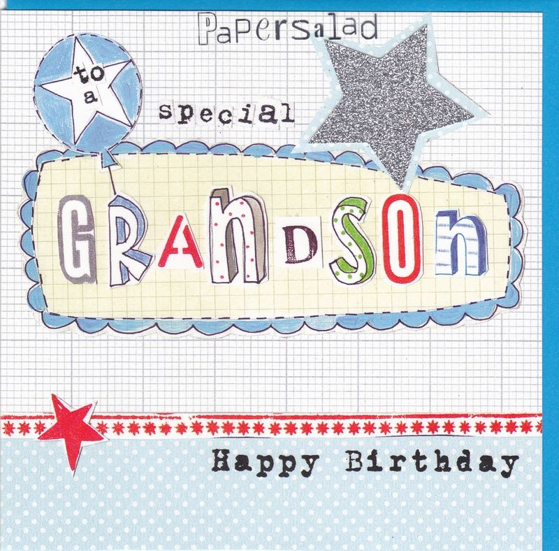 Stars & Balloon Grandson Birthday Card - product images  of