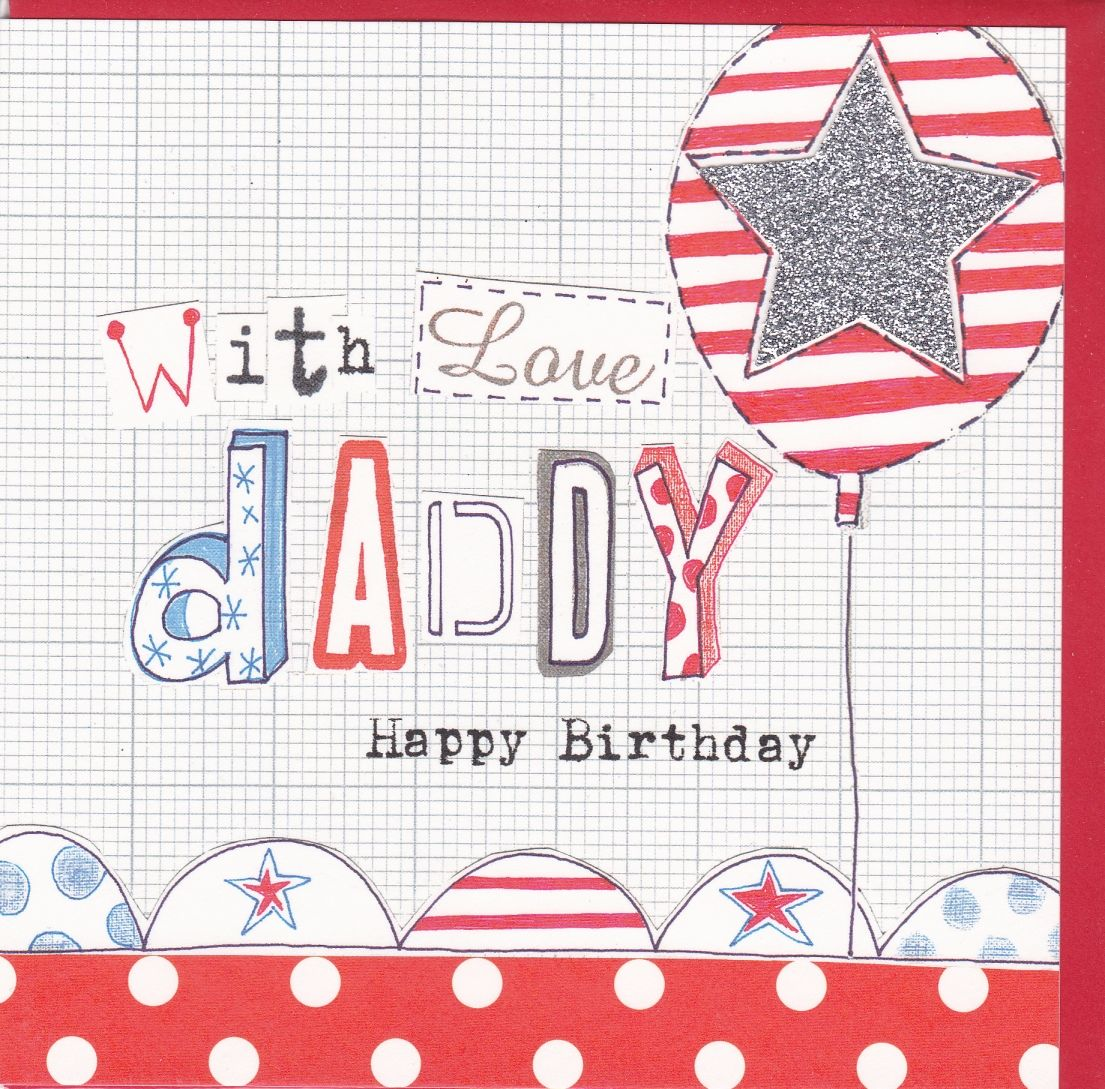 With love daddy birthday card karenza paperie with love daddy birthday card bookmarktalkfo Images