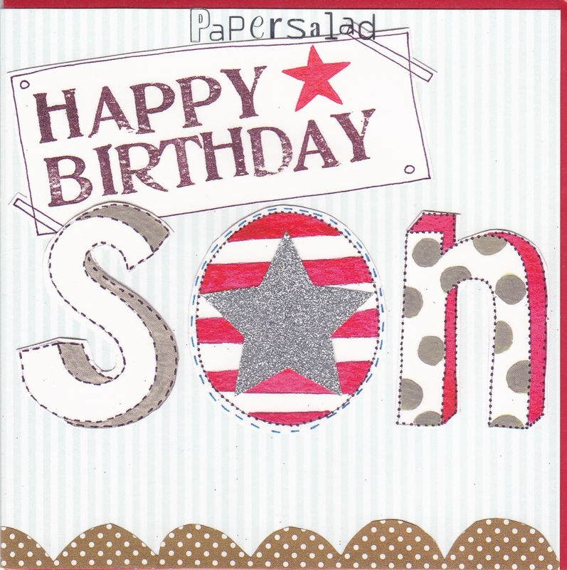 Star Son Birthday Card - product images  of