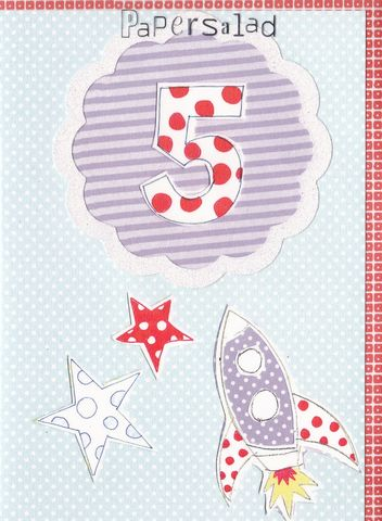 Rocket,5th,Birthday,Card,buy 5th birthday card online, buy boys age five birthday card online, buyrocket 5th birthday card online, space 5th birthday card, age five birthday cards with spaceship, stars and space age five birthdya card