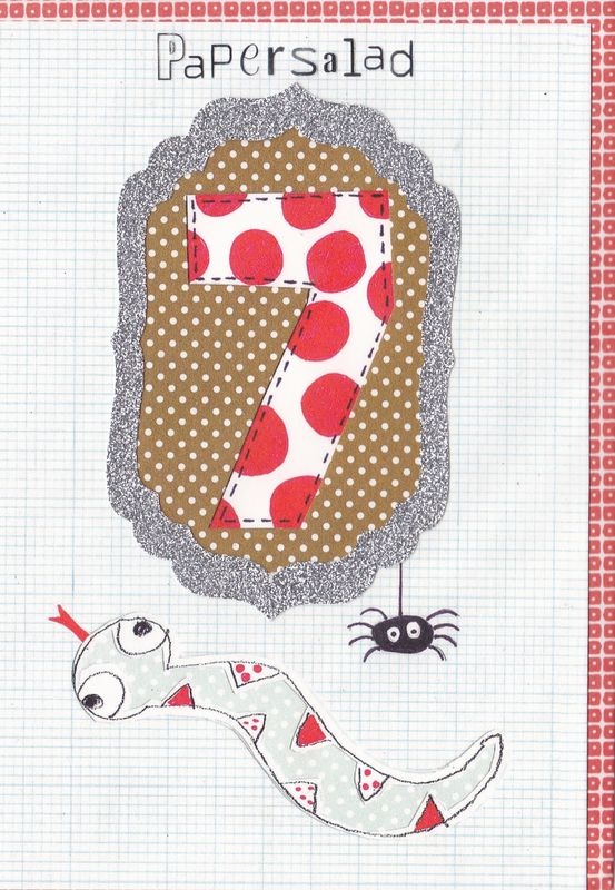 Snake 7th Birthday Card - product images  of